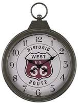 """Lazy Susan Historic Route 66 27"""" Pocket Watch Wall Clock Aged Iron ;"""