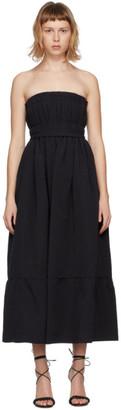 Brock Collection Black Silk Saura Vichy Dress