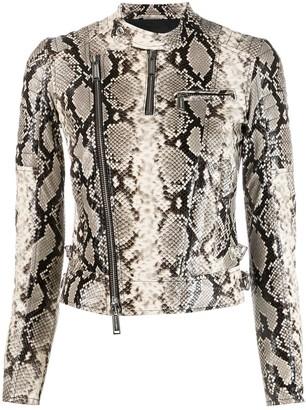 DSQUARED2 snakeskin-effect jacket