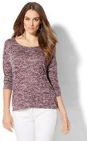 New York & Co. Crochet-Back Tunic Sweater