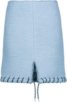 Acne Studios Farson whipstitched wool-blend felt mini skirt