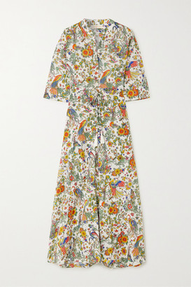 Tory Burch Printed Cotton-voile Maxi Dress - Ivory