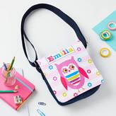 TillieMint Girls Personalised Owl Denim Bag