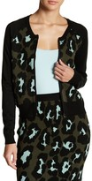 Romeo & Juliet Couture Animal Print Knit Zip Jacket