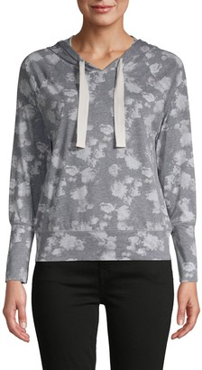 Chaser Floral-Print Cotton-Blend Hoodie