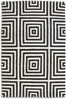 House of Fraser Plantation Rug Co. Frankie 100% Wool Flatweave Rug - 150x230 Black