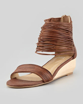 Eileen Fisher Halo Strappy Wedge Sandal, Coco