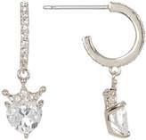 Nadri Faceted Heart CZ Drop Earrings