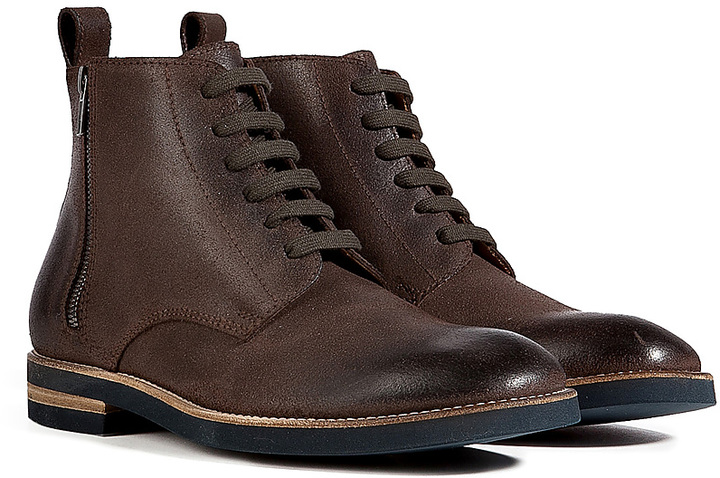 Maison Martin Margiela Leather Lace-Up Boots