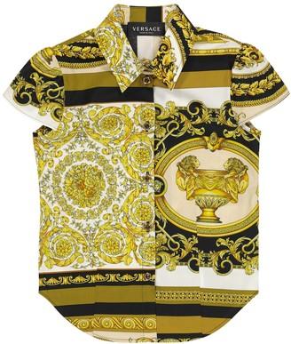 Versace Kids Barocco Mosaic cotton shirt