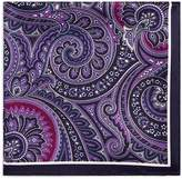 BOSS Paisley Silk Pocket Square