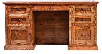 "Millwood Pines Torin 72"" W Double Pedestal Executive Desk Finish: Golden Oak"