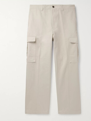 Acne Studios Cotton-Canvas Cargo Trousers - Men - Neutrals