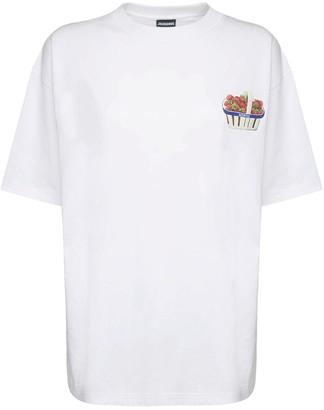Jacquemus Le Fraises Print Cotton Jersey T-Shirt