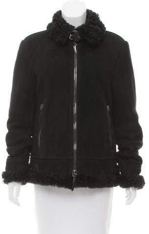 Giuseppe Zanotti Buckle-Accented Shearling Jacket