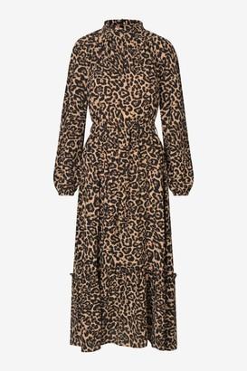 Baum und Pferdgarten Antoinette Dress in Natural Leopard - XS | viscose