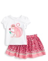 Kate Spade Infant Girl's Monkey Tee & Skirt Set