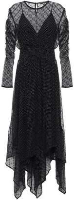 Maje Ribbed And Jacquard-knit Mini Dress