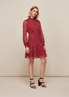 Falling Leaves Silk Dress