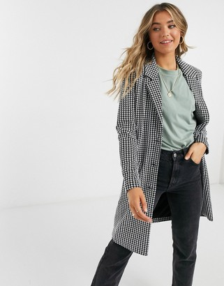 JDY tailored jacket in mono check