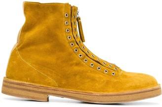 Premiata Grommet-Embellished Ankle Boots