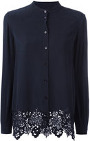 Equipment embroidered hem shirt - women - Silk - M