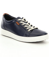 Ecco Soft VII Leather Lace-Up Sneakers