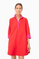 Tuckernuck Pink and Red Colorblock Megan Taffeta Dress