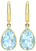 Kiki McDonough Classic 18k Blue Topaz Pear Drop Earrings