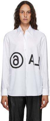 MM6 MAISON MARGIELA White Oversized Reversed Logo Shirt