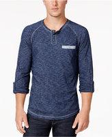 INC International Concepts Men's Raglan-Sleeve Pocket Henley, Created for Macy's