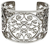 Steel by Design As Is Stainless Steel Medallion Cut-out Crystal Cuff