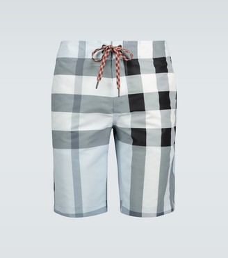 Burberry Large check swim shorts