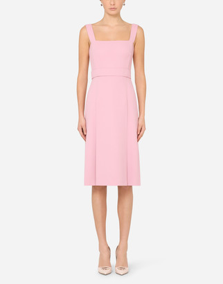 Dolce & Gabbana Sleeveless Cady Midi Dress