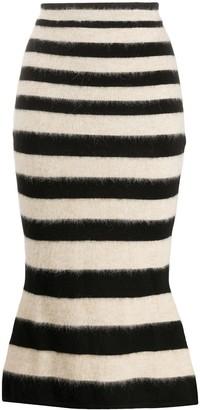 Marni Striped Midi Skirt