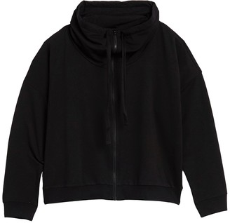 Z By Zella Short Stop Zip Up Sweater (Plus Size)