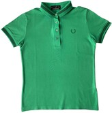 Fred Perry Green Cotton Top for Women