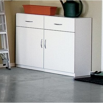 """ClosetMaid 35"""" H x 24"""""""" W x 15"""" D Flat Panel Single Door and Drawer Base Cabinet"""