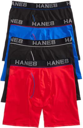 Hanes Men 4-Pk. Platinum Comfort Flex Fit Boxer Briefs