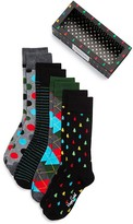 Happy Socks Men's Assorted Pattern Dress Socks Box Set - Pack of 4