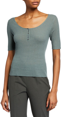 Vince Cashmere Henley Top