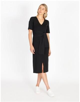 Basque Short Sleeve Milano Dress