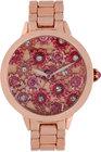 betsey johnson womens rose goldtone bracelet watch 42mm bj0044302