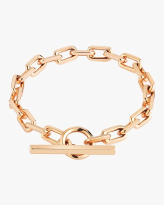 Saxon Solid Chain Link Toggle Bracelet