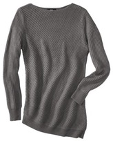 Mossimo Womens Boat Neck Asymmetrical Hem Sweater - Assorted Colors