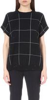 Brunello Cucinelli Grid print cashmere and silk-blend jumper