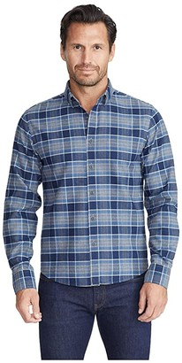 UNTUCKit Heavyweight Wrinkle-Free Flannel Sonoraan Shirt (Grey) Men's Clothing