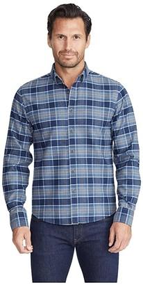 Untuckit UNTUCKit Heavyweight Wrinkle-Free Flannel Sonoraan Shirt (Grey) Men's Clothing