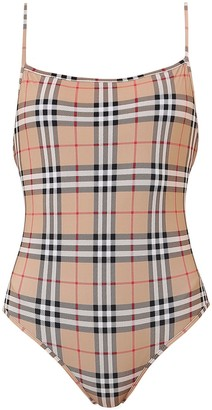 Burberry Vintage Check One-Piece Swimsuit