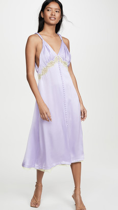 Jonathan Simkhai Kendra Sandwashed Charmeuse Dress